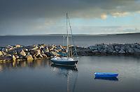 Sailboat and blue rowboat, Blue Rocks Nova Scotia