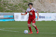 Whitehawk midfielder Sergio Torres during the National League South Play Off 1st Leg match between Whitehawk FC and Ebbsfleet United at the Enclosed Ground, Whitehawk, United Kingdom on 4 May 2016. Photo by Phil Duncan.