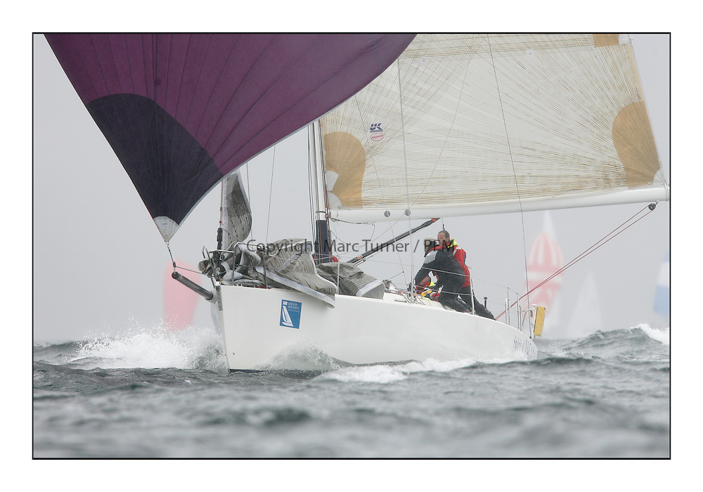 The Brewin Dolphin Scottish Series, Tarbert Loch Fyne..Windy and wet conditions fro all fleets...GBR941R  Bjaysus RUYC J124 Alan Hannon..
