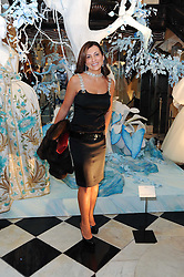ELLA KRASNER at the launch of the Claridge's Christmas Tree designed by John Galliano for Dior held at Claridge's, Brook Street, London on 1st December 2009.