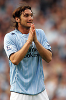 Photo: Paul Thomas.<br /> Manchester City v Derby County. The FA Barclays Premiership. 15/08/2007.<br /> <br /> New signing Rolando Bianchi of City prays for a home goal.