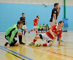 Bristol City Futsal get awarded a free kick. - Photo mandatory by-line: Nizaam Jones - Mobile: 07583 387221 - 02/11/2014 - SPORT - Futsal - Gloucester - Gloucester University - v BCFC Futsal- Sport