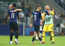 September 18, 2018 - Milan, Italy - FC Internazionale Milano v Tottenham Hotspur FC - UEFA Champions League Group B. Inter celebration at San Siro Stadium in Milan, Italy on September 18, 2018. (Credit Image: © Matteo Ciambelli/NurPhoto/ZUMA Press)