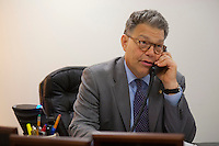 12 Jul 2012, Minnesota, USA --- United States Senator Al Franken (D-MN) in his office --- Image by © Owen Franken/Corbis