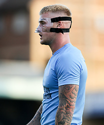 Stephen Humphrys of Southend United wearing his protective mask - Mandatory by-line: Arron Gent/JMP - 24/07/2019 - FOOTBALL - Roots Hall - Southend-on-Sea, England - Southend United v Millwall - pre season friendly