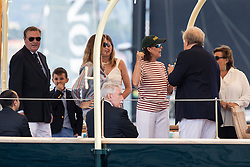 Pierre Casiraghi's wife Beatrice Borromeo and HRH the Princess Caroline of Hanover attend from the royal family yacht Pacha III the depart of Monaco Globe Series - Imoca World Championship. Monaco on June 03, 2018. Photo by Marco Piovanotto/ABACAPRESS.COM