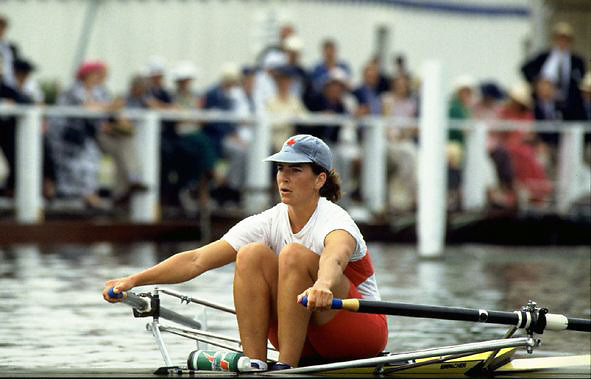 FISA World Cup 1990's, at Lucerne International Regatta, Lake Rotsee, Lucerne SWITZERLAND and Henley Royal Regatta..HRR. Women's single CAN W1X Marnie McBean.FISA World cup events Lucerne and HRR Pictures from the first World Cup events, Men's and Women's singles 1990/91 FISA World Cup Lucerne and