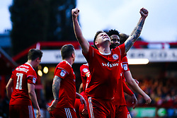 Billy Kee of Accrington Stanley celebrates scoring a goal to make it 2-0- Mandatory by-line: Robbie Stephenson/JMP - 17/04/2018 - FOOTBALL - Wham Stadium - Accrington, England - Accrington Stanley v Yeovil Town - Sky Bet League Two