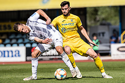 Amadej Vetrih of NK Domzale and Tomi Horvat of NS Mura during Football match between NK Domzale and NS Mura in 30th Round of Prva liga Telekom Slovenije 2018/19, on May 1st, 2019, in Sports park Domzale, Slovenia. Photo by Grega Valancic / Sportida