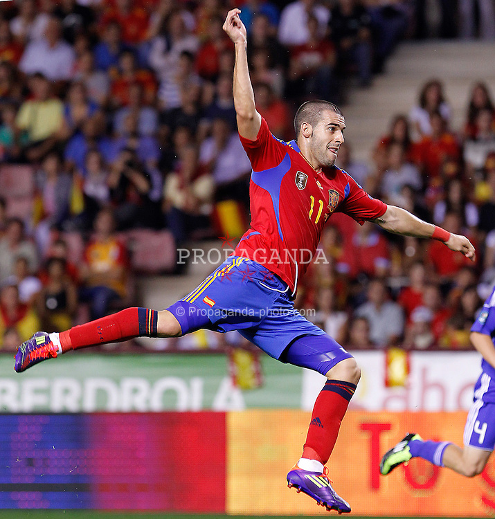 06.09.2011, Logrono, ESP, UEFA EURO 2012, Qualifikation, Spanien vs Lichtenstein, im Bild Spain's Alvaro Negredo during Euro 2012 qualifier match.September 6,2011.. EXPA Pictures © 2011, PhotoCredit: EXPA/ Alterphoto/ Acero +++++ ATTENTION - OUT OF SPAIN/(ESP) +++++