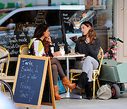 31.AUGUST.2012. LONDON<br /> <br /> KELLY BROOK AND PREEYA KALIDAS ENJOY A COFFEE IN THE SUNSHINE. THE GIRLS SAT OUTSIDE REYNOLD'S CAFE IN CENTRAL LONDON LAUGHING AND JOKING, LONDON UK.<br /> <br /> BYLINE: EDBIMAGEARCHIVE.CO.UK<br /> <br /> *THIS IMAGE IS STRICTLY FOR UK NEWSPAPERS AND MAGAZINES ONLY*<br /> *FOR WORLD WIDE SALES AND WEB USE PLEASE CONTACT EDBIMAGEARCHIVE - 0208 954 5968*