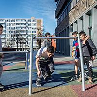 Nederland, Amsterdam, 15 maart 2017.<br /> Sfeerbeeld in de buurt August Alleb&eacute;plein voor bevolkingsgezondheids verhaal.<br /> <br /> <br /> Foto: Jean-Pierre Jans