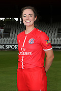 Lancashire Thunders Rachel Dickinson during the media day for Lancashire Thunder at the Emirates, Old Trafford, Manchester, United Kingdom on 17 July 2018. Picture by George Franks.