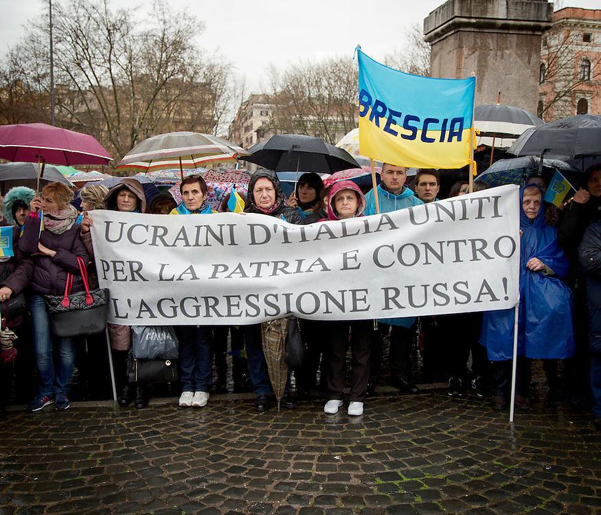 Manifestazione a Roma contro la guerra in Ucraina.<br /> <br /> Demonstration in Rome against the war in Ukraine.