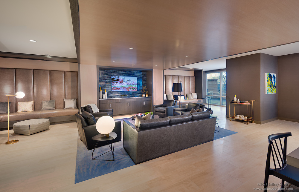 Architectural Interior of First Residences Apartments in Washington DC by Jeffrey Sauers of Commercial Photographics, Architectural Photo Artistry in Washington DC, Virginia to Florida and PA to New England