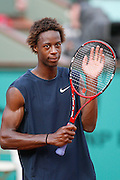 Roland Garros. Paris, France. June 2nd 2008..Gael MONFILS thanks the audience for its support  during his game against Ivan LJUBICIC..Round of 16 (4th Round)...