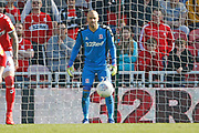 Middlesbrough goalkeeper Darren Randolph (23)  during the EFL Sky Bet Championship match between Middlesbrough and Stoke City at the Riverside Stadium, Middlesbrough, England on 19 April 2019.