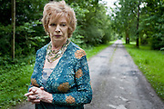 Author Edna O'Brien paying a visit to her birthplace at Drewsboro,Tuamgraney,Co Clare.