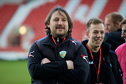 WREXHAM, WALES - Monday, May 2, 2016: The New Saints' manager Craig Harrison after the 2-0 victory over Airbus UK Broughton during the 129th Welsh Cup Final at the Racecourse Ground. (Pic by David Rawcliffe/Propaganda)
