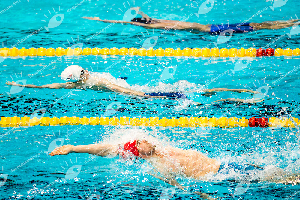 GREENBANK Luke GBR<br /> 100m Backstroke Men Heats<br /> Netanya, Israel, Wingate Institute<br /> LEN European Short Course Swimming Championships Dec. 2 - 6, 2015 Day02 Dec.03<br /> Nuoto Campionati Europei di nuoto in vasca corta<br /> Photo Giorgio Scala/Deepbluemedia/Insidefoto
