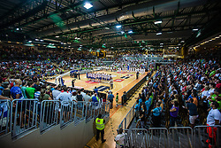 Opening ceremony for final day of friendly basketball match between National teams of Slovenia and Italy at day 3 of Adecco Cup 2015, on August 23 in Koper, Slovenia. Photo by Grega Valancic / Sportida