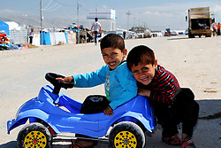 6131224<br /> Children from the UN supervised Refugee Camp for Syrian Civil war refugees in Northern Iraq, Thursday, 27th March 2014. Picture by  imago / i-Images<br /> <br /> UK ONLY