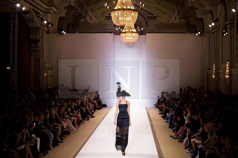 © Licensed to London News Pictures. 16/09/2012. London, UK.  Temperley London catwalk show by designer Alice Temperley at London Fashion Week Spring/Summer 2013 on September 16, 2012. Photo credit : Ben Cawthra/LNP