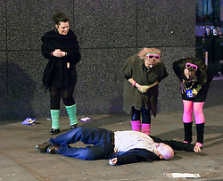© under license to London News Pictures. 21/02/2011. FILE PICTURE.  Revellers out in Manchester (18/12/2010). Poor alcohol regulation could cost up to 250,000 lives in England and Wales over the next 20 years, doctors writing in The Lancet, general medical journal have claimed. Photo credit should read: Joel Goodman/ LNP