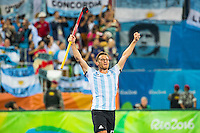 RIO DE JANEIRO  -  Olympic  Final hockey men, Belgium-Argentina (2-4) .  Juan Lopez (Arg) after the final COPYRIGHT KOEN SUYK