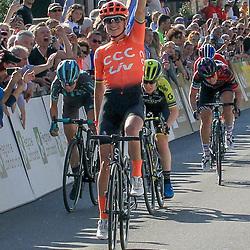 24-03-2019: Wielrennen: Tropheo Binda: Cittiglio <br /> De Trofeo Binda is gewonnen door Marianne Vos. De renster van CCC-Liv won de sprint van een kopgroep, die net uit de greep van het peloton wist te blijven.<br /> Het was voor Vos de vierde zege in de Trofeo Alfredo Binda, eerder won zij in 2009, 2010 en 2012.