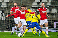 ALKMAAR - 27-01-2016, AZ - Cambuur, AFAS Stadion, 3-1, AZ speler Ben Rienstra, SC Cambuur speler Jamiro Monteiro