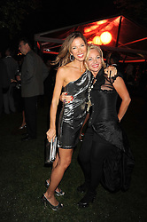 Left to right, HEATHER KERZNER and AMANDA ELIASCH at the annual Serpentine Gallery Summer Party in Kensington Gardens, London on 9th September 2008.