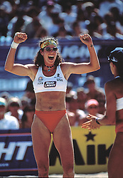 FIVB Professional Volleyball - Hermosa Beach, CA - 1995 - Nancy Reno - Photo by Wally Nell/Volleyball Magazine