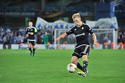 September 14, 2017 - San Sebastian, Gipuzkoa - Basque Country, Spain - Birger Meling of Rosenborg BK kick the ball during the UEFA Europa League Group L football match between Real Sociedad and Rosenborg BK at the Anoeta Stadium, on 14 september 2017 in San Sebastian, Spain  (Credit Image: © Jose Ignacio Unanue/NurPhoto via ZUMA Press)