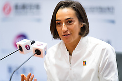 September 23, 2018 - Caroline Garcia of France talks to the media during All Access Hour at the 2018 Dongfeng Motor Wuhan Open WTA Premier 5 tennis tournament (Credit Image: © AFP7 via ZUMA Wire)