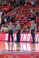10 December 2016:  Gene Grimshaw, Zelton Steed and Ryan Odneal during an NCAA  mens basketball game between the UT Martin Skyhawks and the Illinois State Redbirds in a non-conference game at Redbird Arena, Normal IL