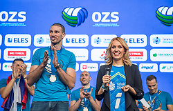 Sanja Modric and Alen Pajenk during the Day for the medals: Reception of Slovenian sport heroes on 30.9.2019 on Kongresni square, Ljubljana, Slovenia. Photo by Urban Meglič / Sportida
