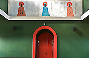 03.08.2006 Bialy Bor village Poland. Greco - Catholic church designed by professor Jerzy Nowosielski. Fot Piotr Gesicki