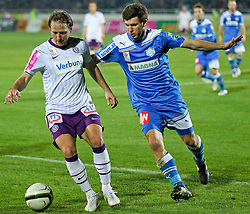17.03.2012, Stadion, Wiener Neustadt, AUT, 1. FBL, SC Wiener Neustadt vs FK Austria Wien, im Bild Tomas Jun, (FK Austria Wien, #11) vs Andreas Schicker, (SC Magna Wiener Neustadt, #16) // during the Austrian Bundesliga Match, SC Wiener Neustadt against FK Austria Wien, Stadium, Wiener Neustadt near Vienna, Austria on 2012-03-17, EXPA Pictures © 2012, PhotoCredit: EXPA/ S. Woldron