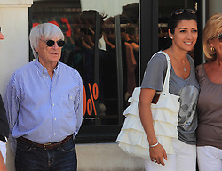 08.08.2011, Dubrovnik, CRO, Formel 1 Boss Bernie Ecclestone mit Freundin Fabiana F/losi und Red Bull F1 Teamchef Christian Horner besuchen Dubrovnik // Formula 1 boss Bernie Ecclestone with girlfrend Fabiana Flosi visit Dubrovnik, Croatia, with them also  was Christian Horner from F1 Red Bull team on 8/8/2011. EXPA Pictures © 2011, PhotoCredit: EXPA/ nph/ PIXSELL +++++ ATTENTION - OUT OF GER / CRO / BEL +++++