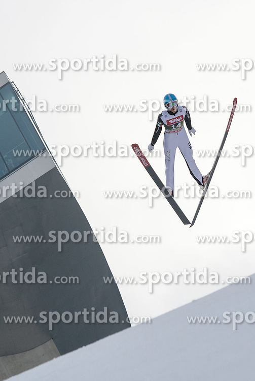 03.01.2015, Bergisel Schanze, Innsbruck, AUT, FIS Ski Sprung Weltcup, 63. Vierschanzentournee, Innsbruck, Training, im Bild Daniele Varesco (ITA) // Daniele Varesco of Italy soars through the air during a training session for the 63rd Four Hills Tournament of FIS Ski Jumping World Cup at the Bergisel Schanze in Innsbruck, Austria on 2015/01/03. EXPA Pictures © 2015, PhotoCredit: EXPA/ Jakob Gruber