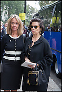 SABRINA GUINNESS; BIANCA JAGGER, Memorial service for Mark Shand.  . St. Paul's Knightsbridge. September 11 2014.