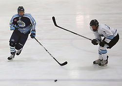 Marlborough, Massachusetts, USA - September 19-21, 2014: NJ Hitmen vs the Boston Advantage Split.  The Hitmen won 4-1.  The NJ Hitmen went 7-0 in winning the tournament.