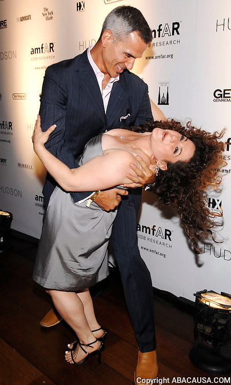 Dancer Jerry Mitchell and Marissa Janet Winokur share a dance at amfAR's Honoring With Pride Event presented by the Hudson Hotel in New York City, USA on June 9, 2008.