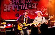 NIJMEGEN - '3FM Serious Talent Tour' in muziekpodium Merelyn . Vanavond staan op het podium: Ed, Chagall en A Polaroid View. In actie ED. ROBIN UTRECHT FOTOGRAFIE