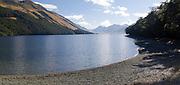 Panoramic view of Upper Mavora Lake, Otago, New Zealand
