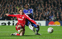 Chelsea FC vs Liverpool FC Champions League S-Final 2nd Leg 30/04/08<br /> Photo Nicky Hayes/Fotosports International<br /> Fernandso Torres scores for Liverpool.