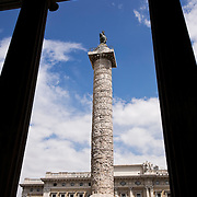 Colonna at Piazza Colonna, Rome, Italy
