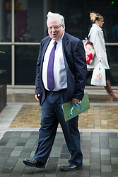 © Licensed to London News Pictures . 01/10/2017. Manchester, UK. PATRICK MCLOUGHLIN at Media City in Salford during the first day of the Conservative Party Conference at the Manchester Central Convention Centre . Photo credit: Joel Goodman/LNP
