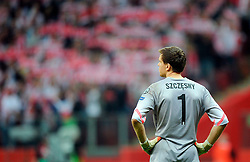 11.10.2014, National Stadium, Warsaw, POL, UEFA Euro Qualifikation, Polen vs Deutschland, Gruppe D, im Bild WOJCIECH SZCZESNY // during the UEFA EURO 2016 Qualifier group D match between Poland and Germany at the National Stadium in Warsaw, Poland on 2014/10/11. EXPA Pictures © 2014, PhotoCredit: EXPA/ Newspix/ Norbert Barczyk<br /> <br /> *****ATTENTION - for AUT, SLO, CRO, SRB, BIH, MAZ, TUR, SUI, SWE only*****